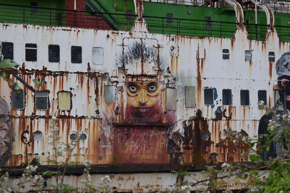 Duke Of Lancaster, Ship, Abandoned, Boat, Sea, Old