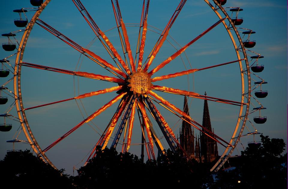 Dult, Folk Festival, Blue Hour, Ride, Ferris Wheel