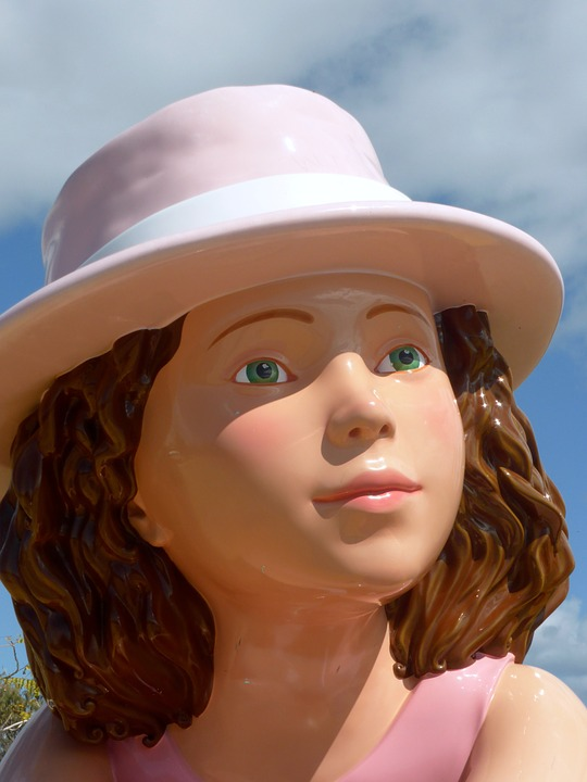 Dummy, Woman, Girl, Hat, Face, Vision, Plastic, Closeup