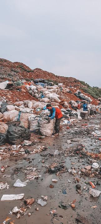 Dump Area, Workers, Working, Garbage Dump, Rubbish Dump