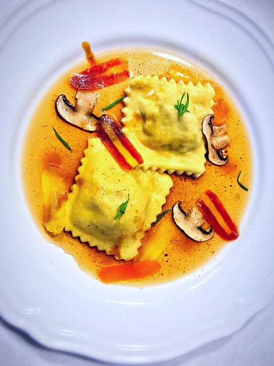 Lamb, Ravioli, Food, Delicious, Dumpling, White