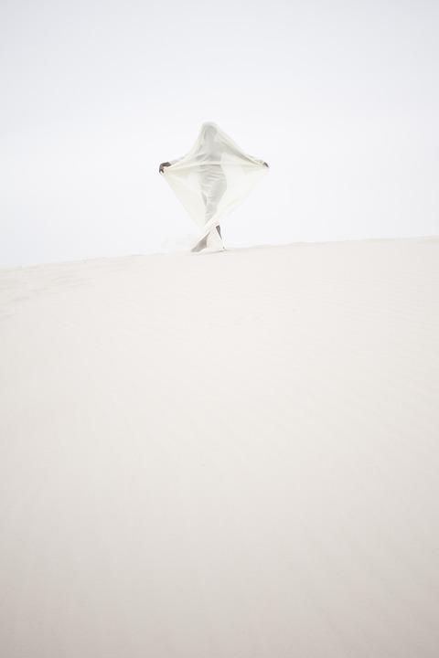 Mystical, Portrait, Sand, Dune, Solitude, Character