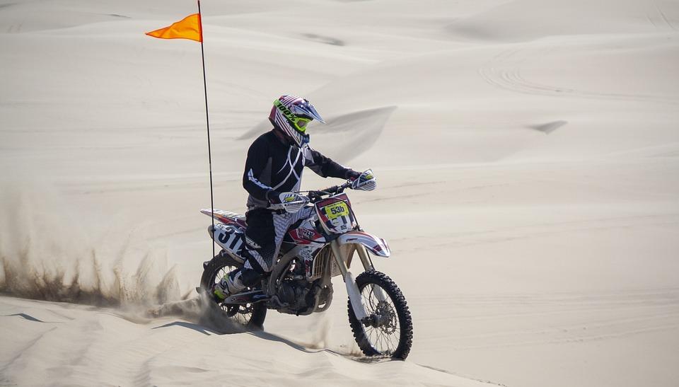 Biker, Sand Dunes, Desert, Oregon, Sand, Dunes, Hot