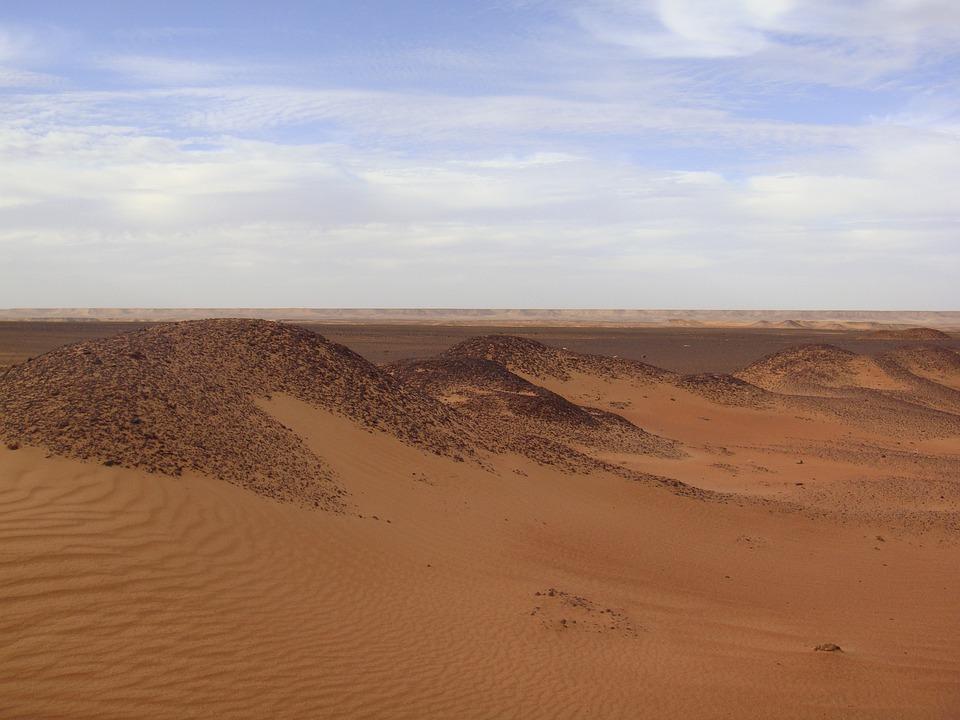 Desert, Sand, Dunes, Landscape, Sky, Sahara, Africa