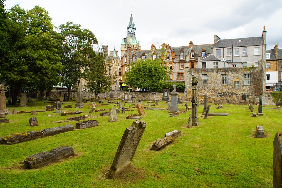 Dunfermline, Scotland, Cemetery, Historically