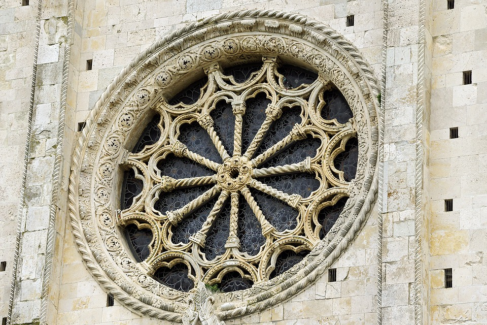 Rose Window, Duomo, Firm, Brands, Italy, Monument