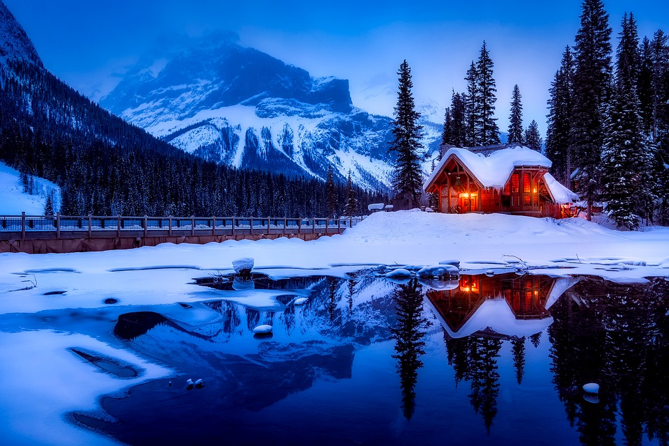Free Photo Dusk Canada Sunset Log Cabin Water Lake Max Pixel