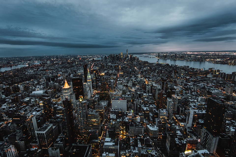 New York City, Urban, Cityscape, Sunset, Dusk