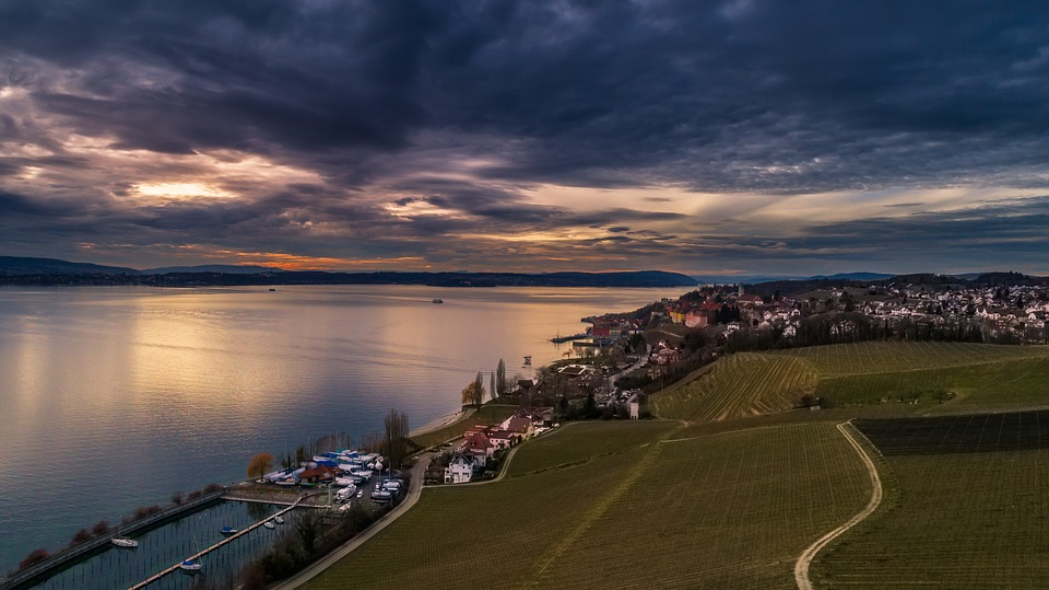 Sunset, Waters, Dawn, Dusk, Sun, Horizon, Panorama