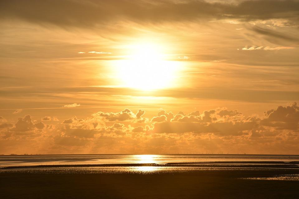Sun, Sunset, Sky, Mood, Dusk, Atmospheric, Clouds