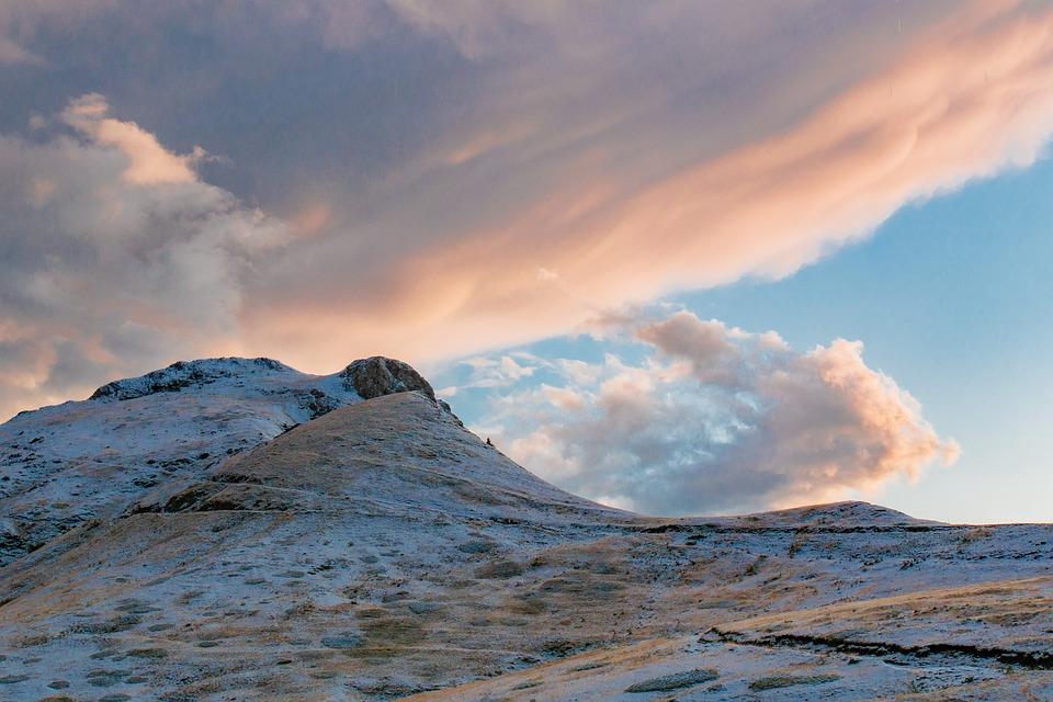 Mountains, Clouds, Sky, Dusk, Landscape