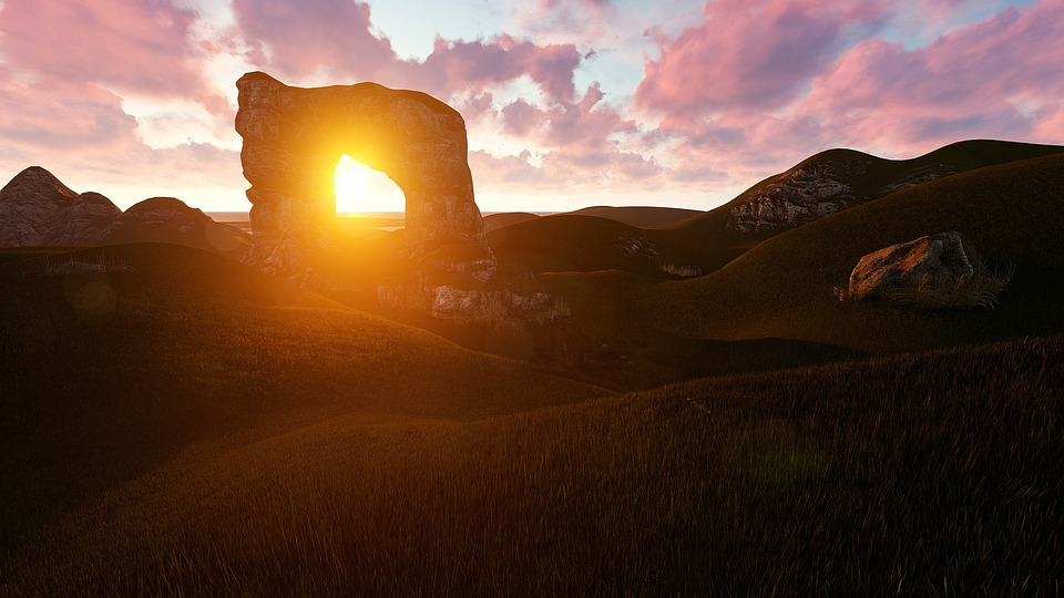 Sunset, Dawn, Panoramic, Landscape, Dusk, Light, Hope
