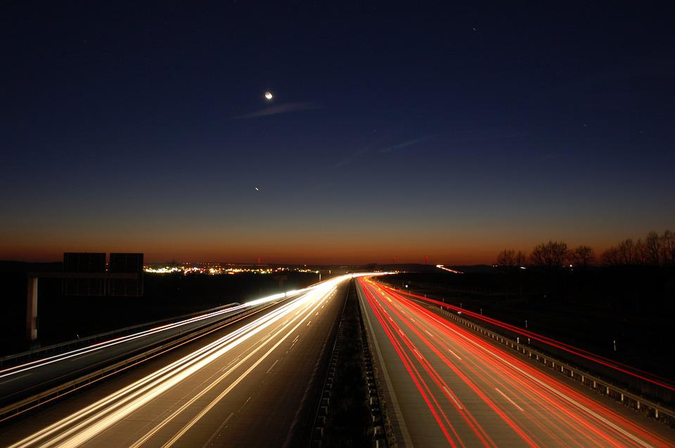 Road, Highway, Transport System, Traffic, Fast, Dusk