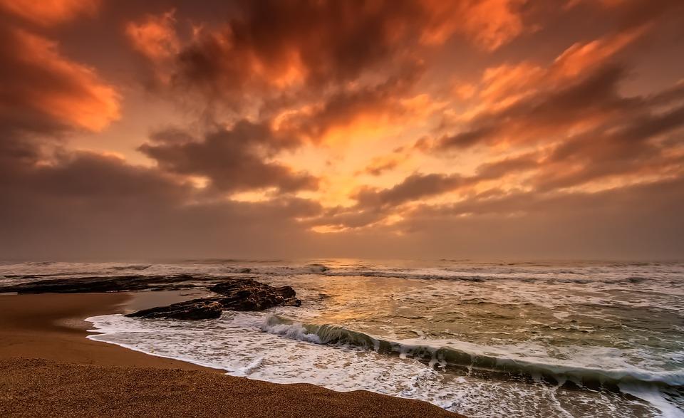 Beach, Dawn, Dusk, Evening, Ocean, Sand, Sea, Seascape