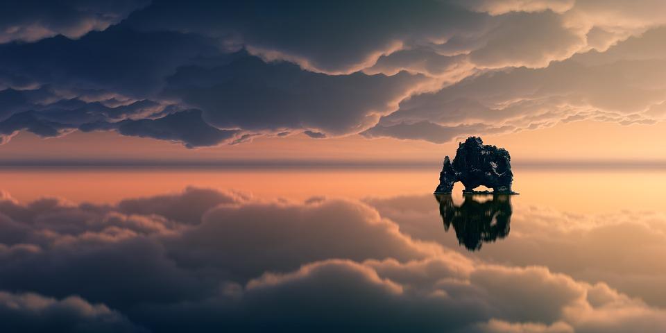 Sunset, Sky, Dawn, Clouds, Island, Landscape, Dusk