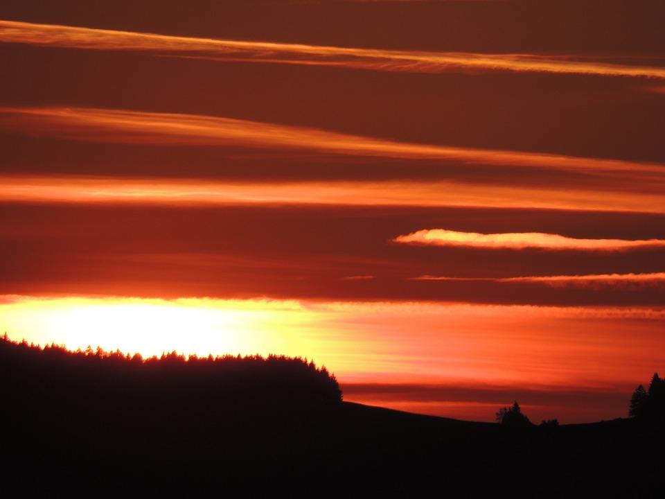 Sunset, Dusk, Twilight, Himmelröte