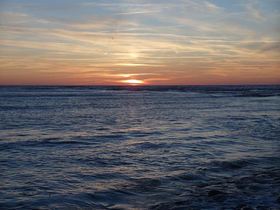 Lighthouse, Sunset, Beach, Vendée, Sun, Dusk, Chassiron