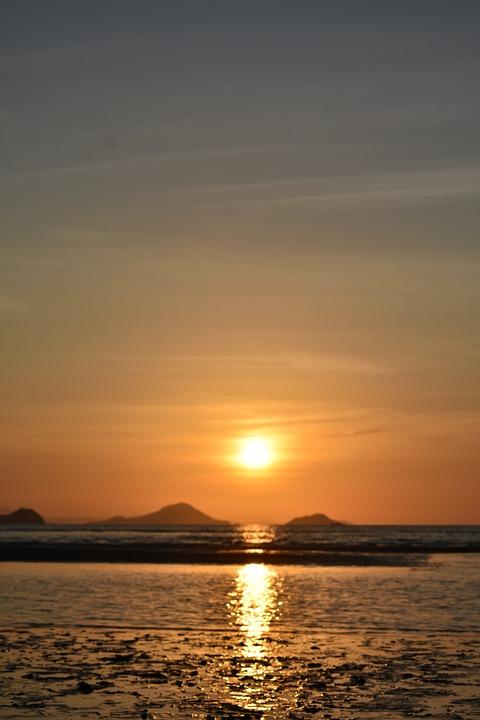 Sea, Sunset, Outdoors, Travel, Exploration, Dusk