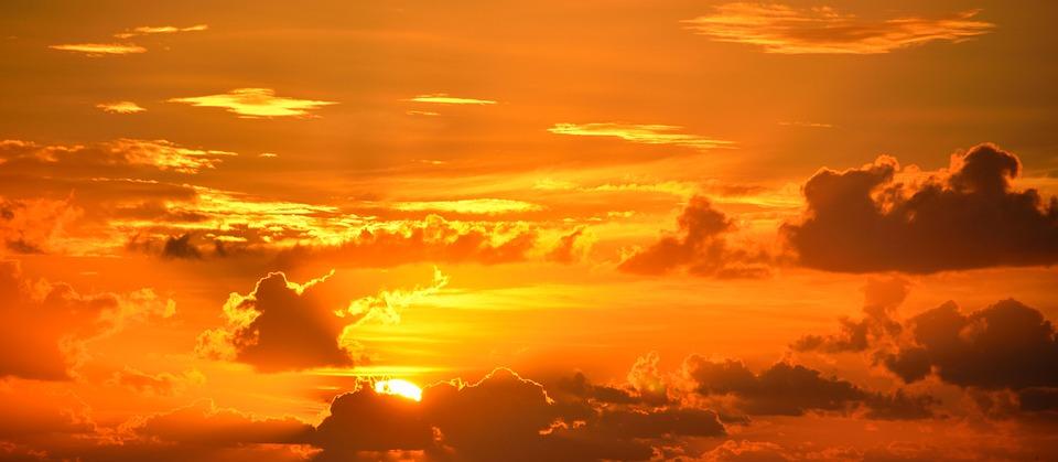 Sun, Sky, Clouds, Sunset, Sunrise, Dusk, Dawn, Twilight