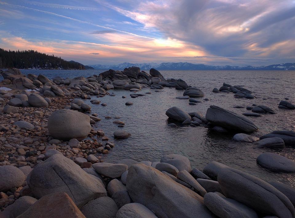 Dusk, Lake, Nature, Water, California, Outdoors