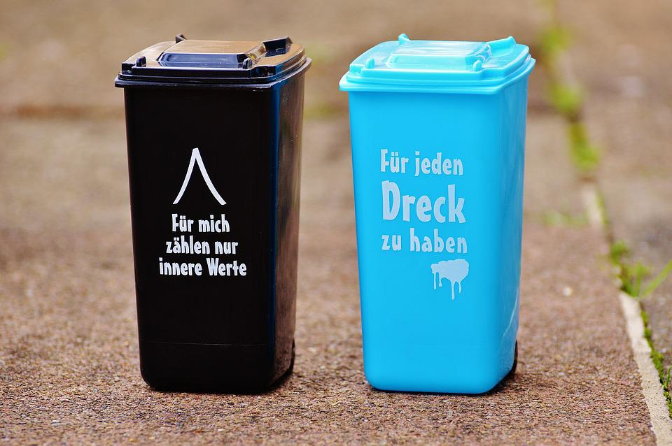 Dustbin, Funny, Saying, Garbage Can, Ton, Bucket, Black