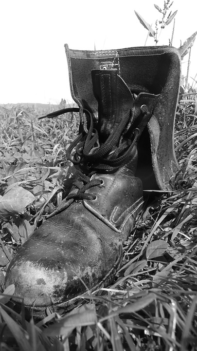 Jackboot, Army, Military, Battered, Dusty, Footwear