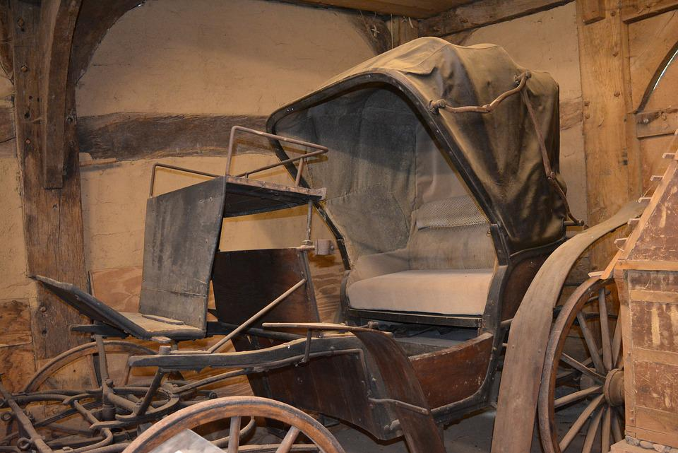 Cab, Coach, Dare, Old, Dusty, Museum