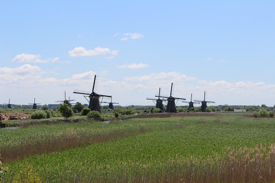 Holland, Mill, Kinderdijk, Netherlands, Dutch