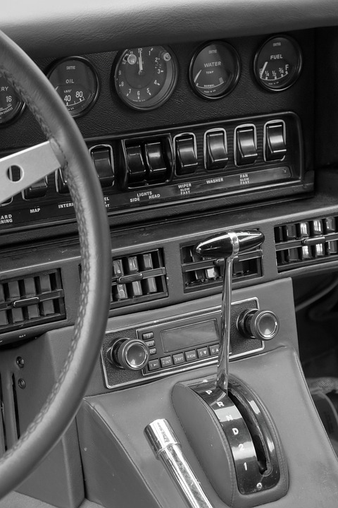 Jaguar, E Type, Interior, Automatic, Sports Car, Shiny