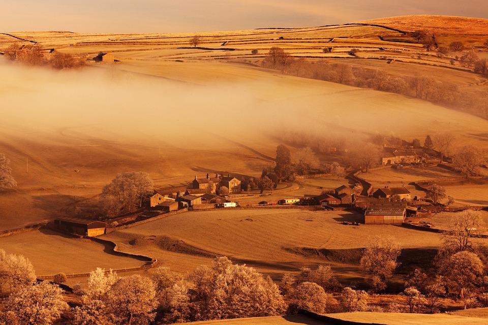 Cloud, Dawn, Early, Fog, Foggy, Hill, Hills, Land