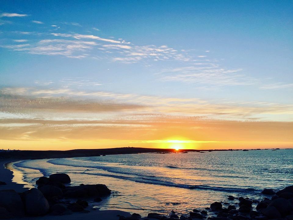 Earth Day, Sun Set, Beach, Sun, Sea, Sky, Nature