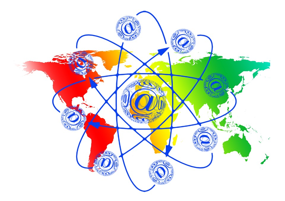 Globe, E Mail, Ball, Earth, World, At, Mail, Email