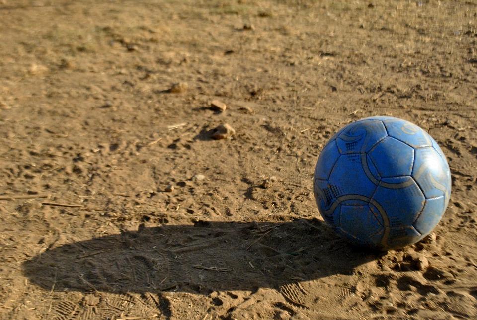 Football, Soccer, Ball, Old, Earth, Soil, Game, Sport