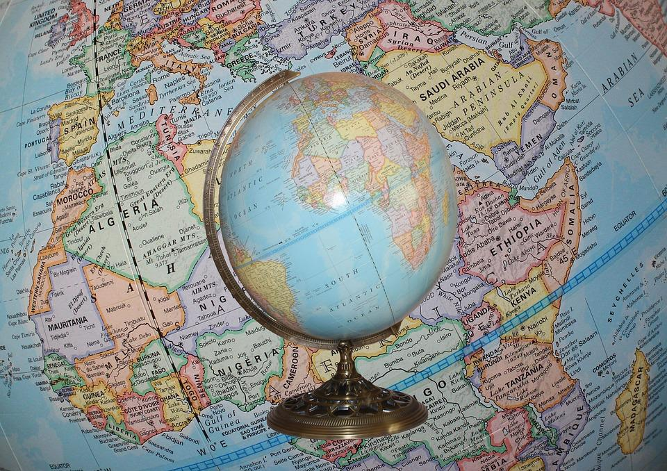 Free Photo Earth Globe Planet Sphere World Map Geography Max Pixel - Map globe of the world