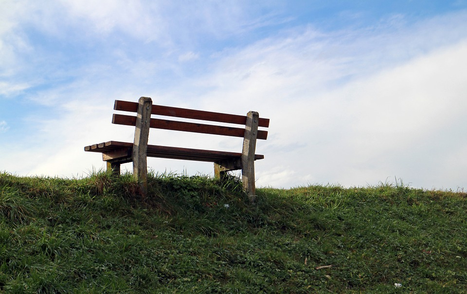 Bench, Bank, Seat, Click, Rest, Nature, Out, Sky, Earth