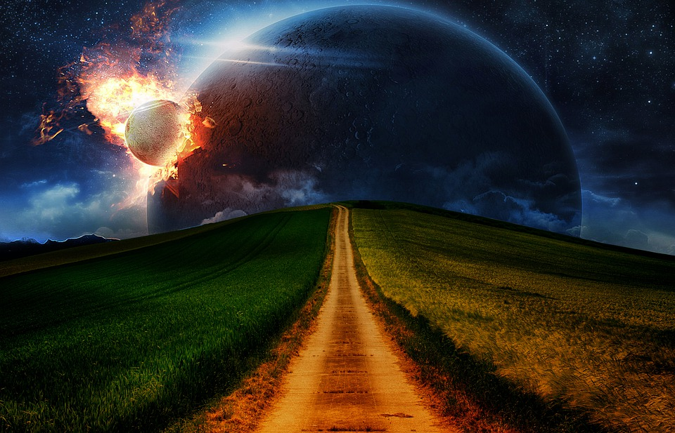 Fantasy, Asteroid, Planet, Background, Space, Earth
