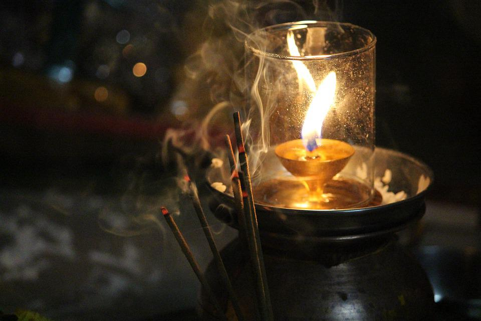 Earthen Lamp, Scented Stick, Lamp, Candle, Light, Mood