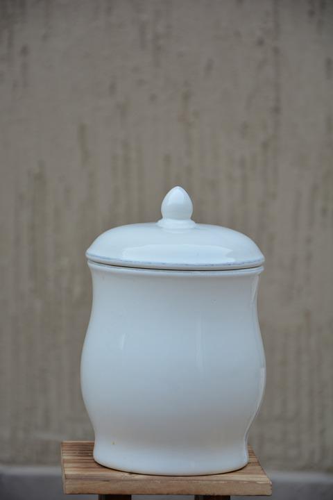 Pot, Earthenware, White, Vessel, Jar
