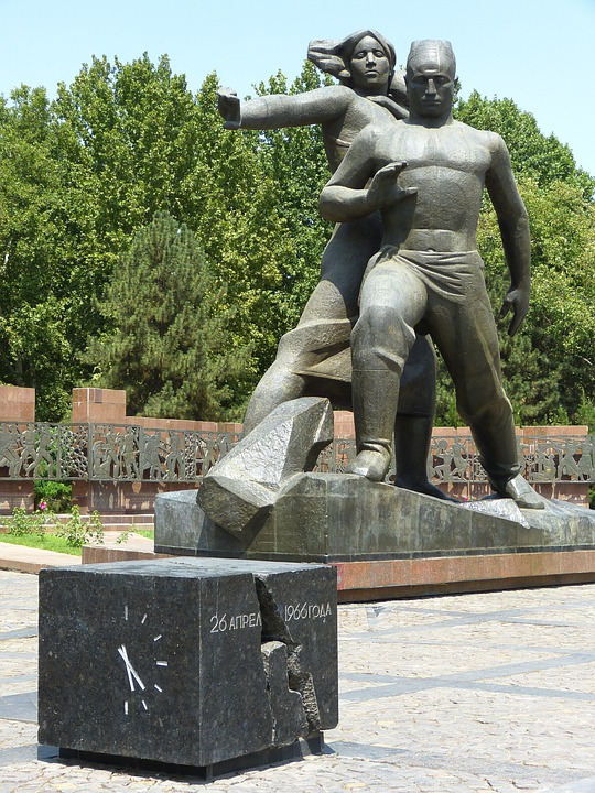 Tashkent, Monument, Earthquake, Earthquake Victims