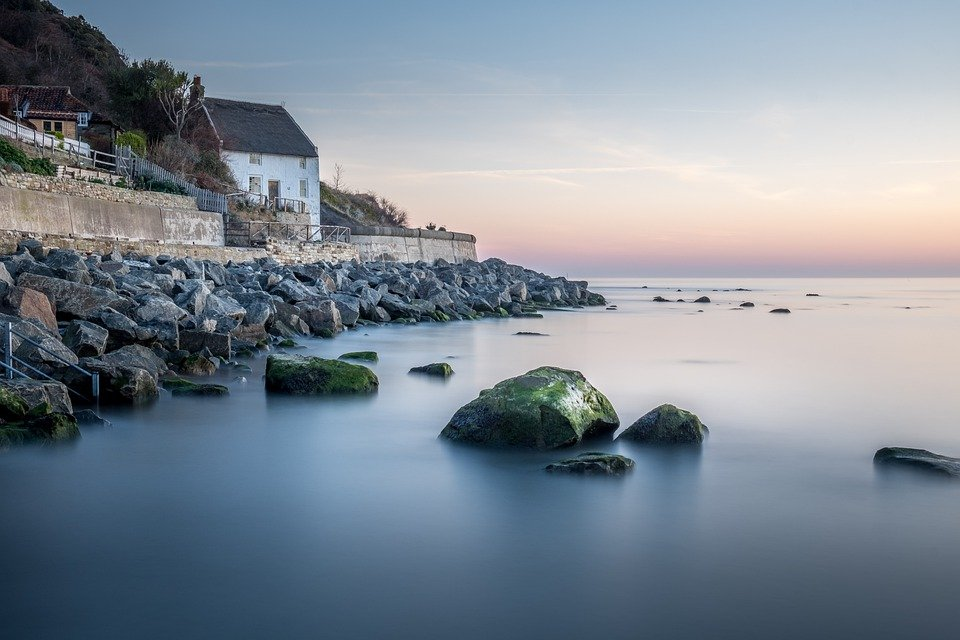 Runswick Bay, Thatched Cottage, Yorkshire, East Coast