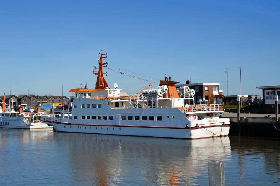 East Frisia, Bensersiel, Ferry, Ship, Passenger Ferry