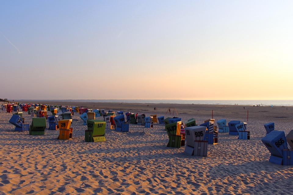 Island, Langeoog, East Frisia, Beach, North Sea, Coast