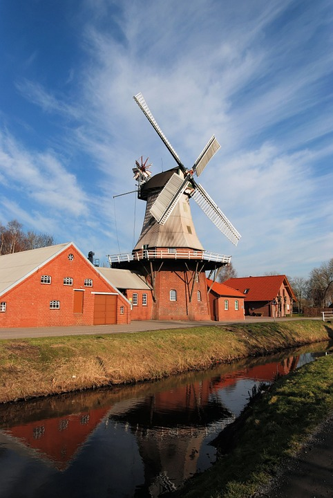 Mill, East Frisia, Dutch, Wieke, Windmill, Wing