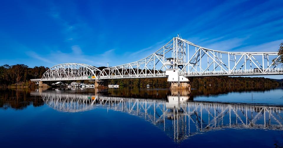 East Haddam, Bridge, Connecticut River, Hdr