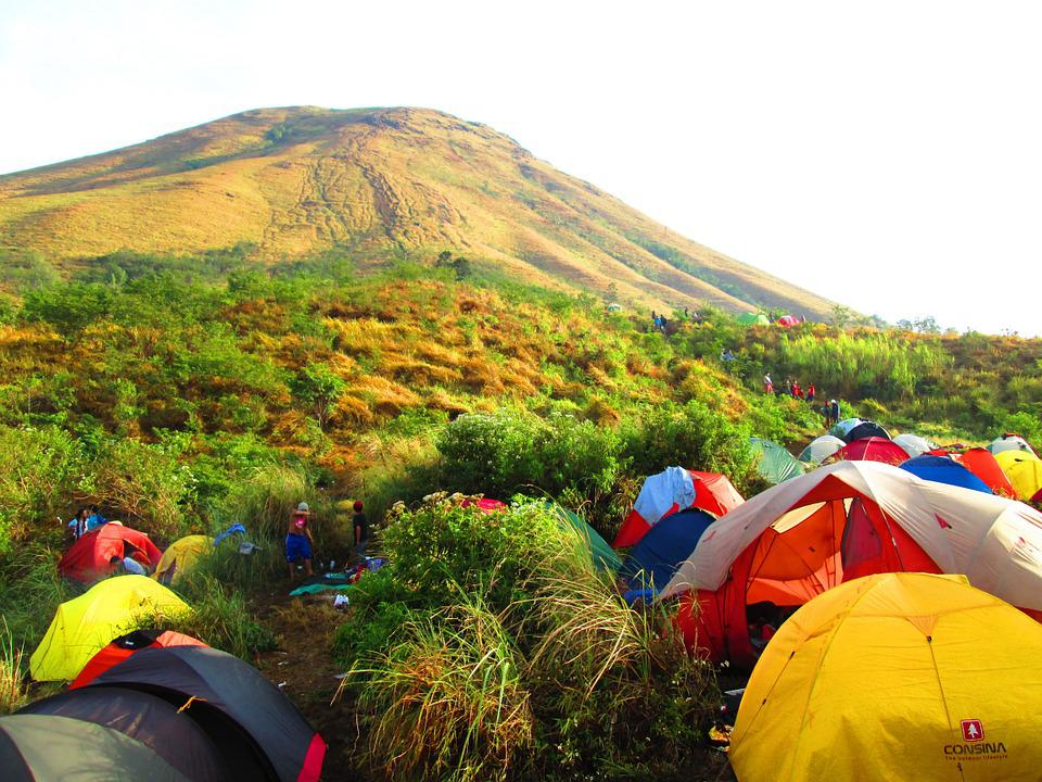 Indonesian, Mount, Ascent, East Java, Camp, Tent