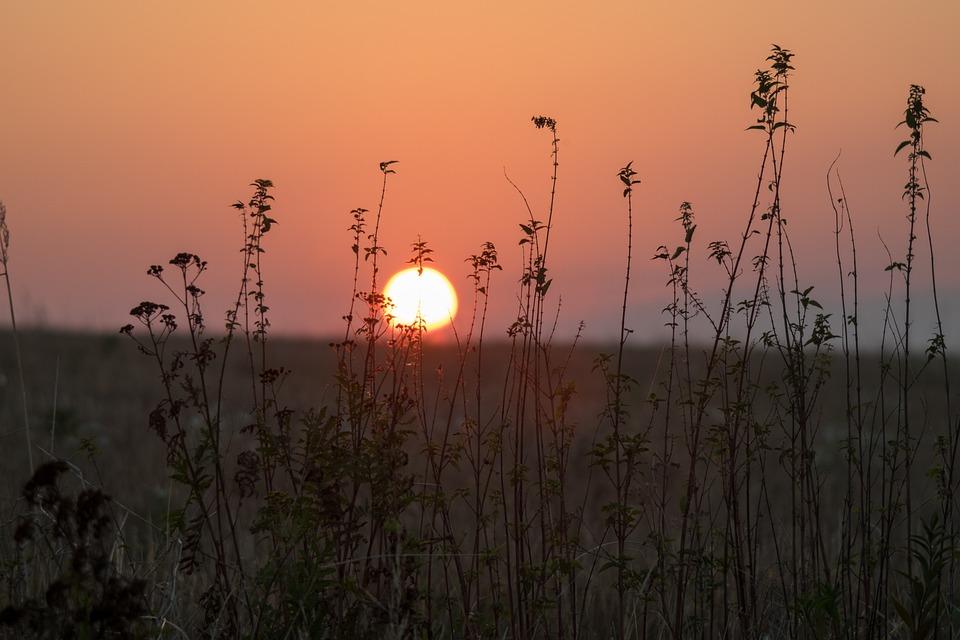 East, The Sun, Sky, Twilight, Landscape, Sunrise