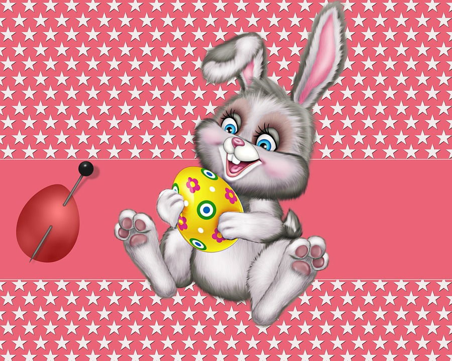 Illustration, Rabbit, Easter, Background, Texture