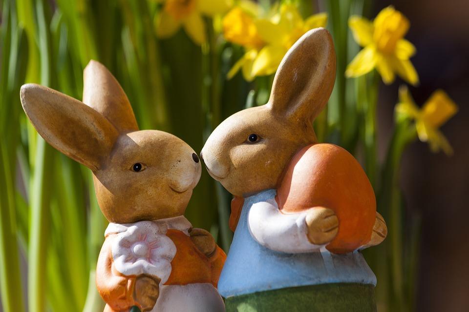 Easter Bunny, Easter, Rabbit, Bunny Couple