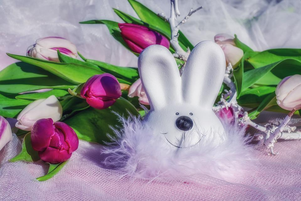 Easter Bunny, Easter, Figure, Hare, White, Cute