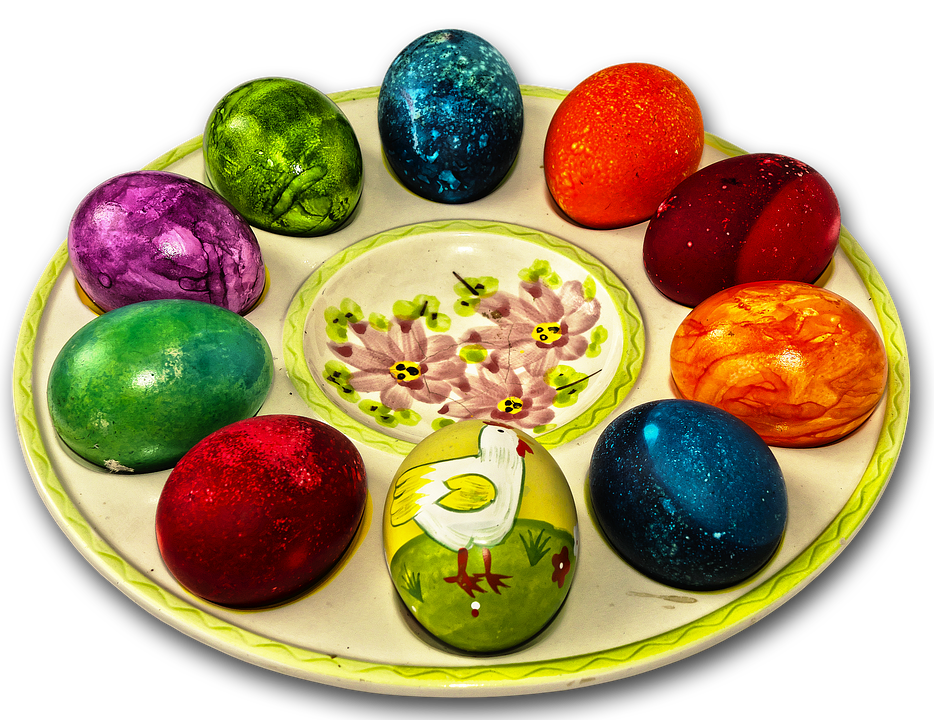Easter Plate, Easter Decoration, Easter Eggs, Egg